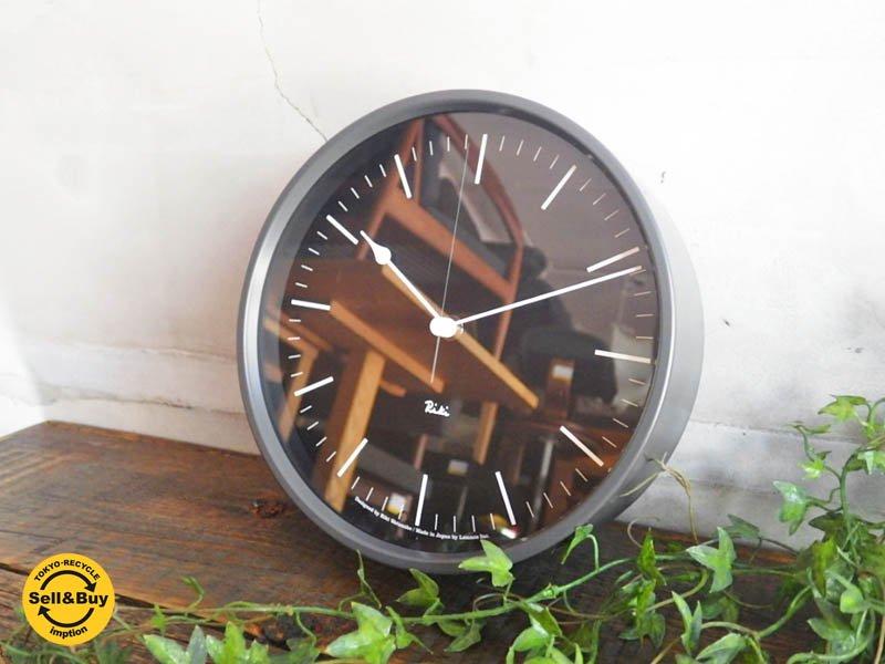 レムノス Lemnos 渡辺力 ウォールクロック 電波時計 直径20cm RIKI STEEL CLOCK ♪