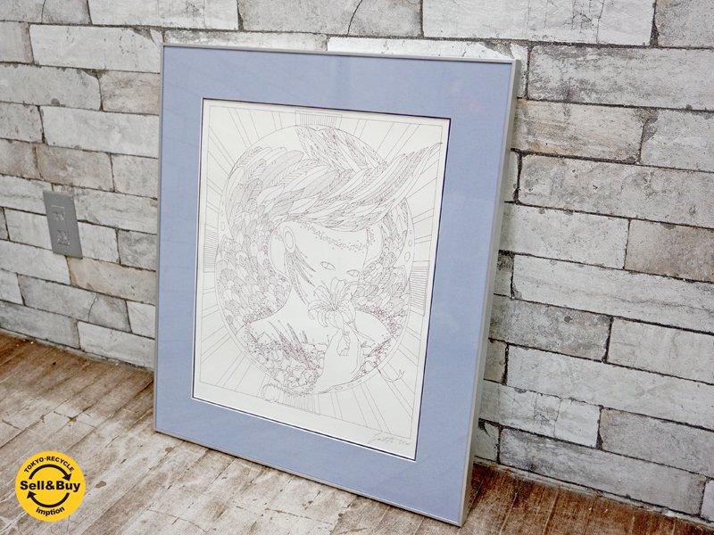 Louis Guidette 80'sビンテージ リトグラフ 額装品 B ●
