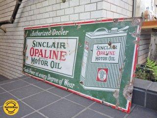 USAビンテージ シンクレア SINCLAIR OPALINE MOTOR OIL ブリキ看板 1920's アメリカ ■