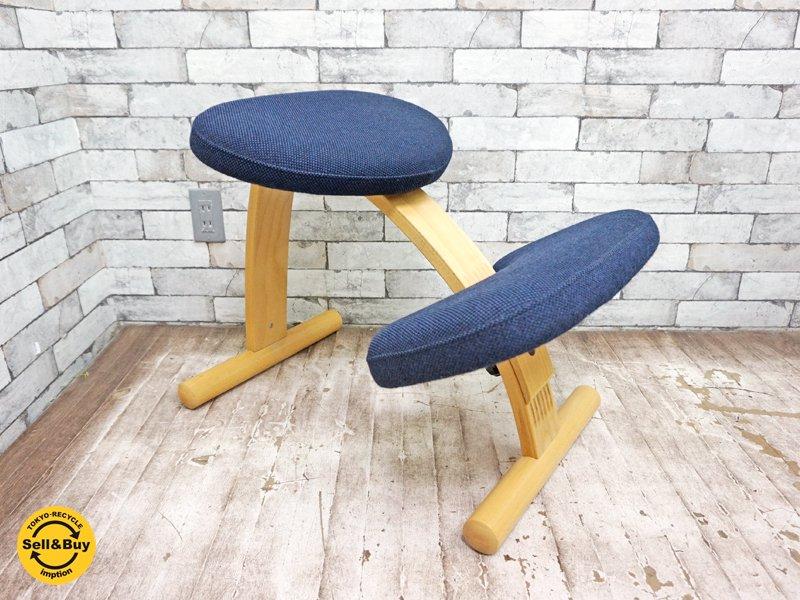 リボ Rybo バランス イージー チェア Balans EASY 学習椅子 デスクチェア ネイビー ★
