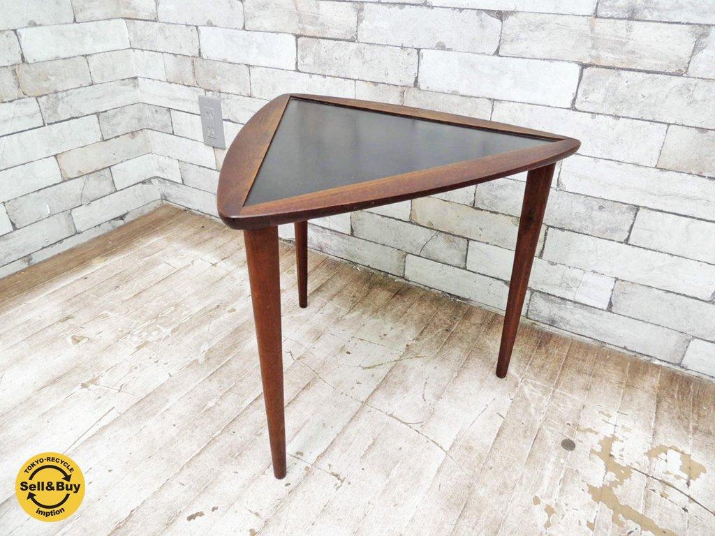 ヴィンテージ トライアングルテーブル サイドテーブル ◎