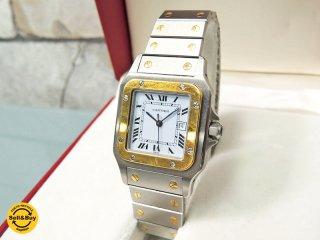 カルティエ Cartier サントスガルベLM 腕時計 メンズ 自動巻き 純正ケース付き ●