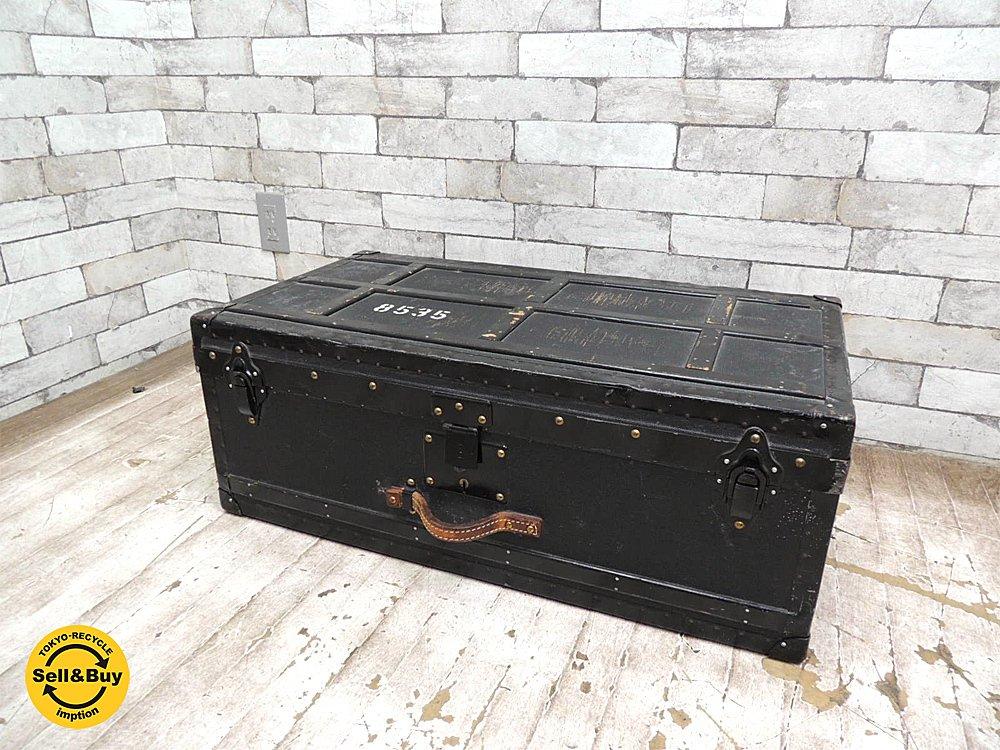 スイス軍 ビンテージ トランク ミリタリー インダストリアル 見せる収納 ディスプレイ 店舗什器 ●