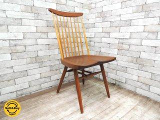 ジョージ・ナカシマ 桜製作所 New Chair ニューチェア (B) ウォールナット無垢材 nakashima 桜 SAKURA MADE IN JAPAN 焼印入り ●