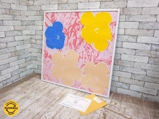 サンデーBモーニング版 Sunday B.Morning アンディ・ウォーホル Andy Warhol フラワー Flowers 11.70 シルクスクリーン 額装品 ●