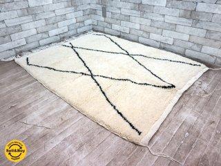 ベニワレン Beni Ouarain ラグ モロッコ 手織り ハンドメイド 未使用品 154.5×111cm B ●