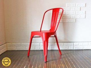 トリックス Tolix  Aチェア A-chair レッド France カフェ チェア ◎