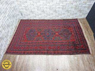 ペルシャ絨毯 オールドトルクメン 大判 ラグ 絨毯 W294×D159 ●