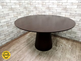 モーダエンカーサ moda en casa テンポ TEMPO 125 ラウンド ダイニングテーブル オーク材 モダンデザイン ●