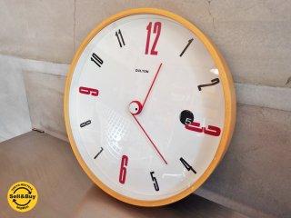 ダルトン DULTON 掛け時計 プライウッドフレーム デイト機能付き ♪