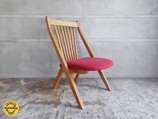 飛騨曲木民芸家具 縁側椅子 ローチェア ナラ無垢材 ♪