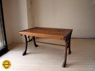 オールドメゾン ヴィンテージ old maison Vintage 古材×シャビーシック 鉄脚 アイアンレッグ テーブル/ベンチ/スツール ★