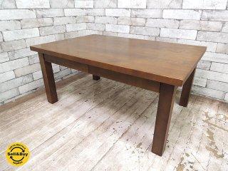 無印良品 MUJI 木製ローテーブル 引出付 w90cm バーチ材 ブラウンカラー シンプルデザイン ●