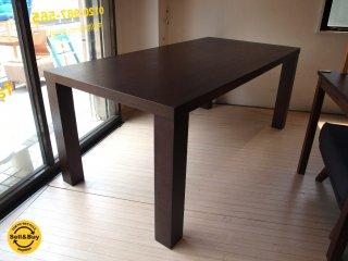 モーダエンカーサ moda en casa モダンデザイン ダイニングテーブル ダークブラウン W180cm ★