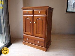 カントリースタイル パイン材  ウッドキャビネット Wood cabinet アンティーク調 ★