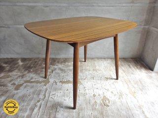 カリモク60+ karimoku Dテーブル ラバートリー ウォールナットカラー 展示美品 ♪