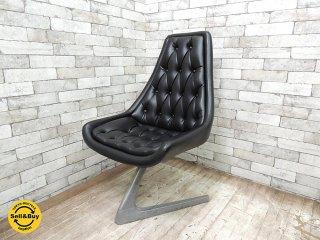 クロームクラフト CHROMECRAFT ビンテージ ユニコーンチェア Unicorn chair ウラジミールケーガン Vladimir Kagan スタートレック A ●