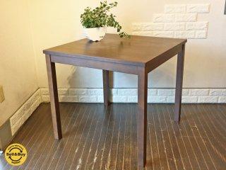 無印良品 MUJI バーチ材 ダイニングテーブル ブラウン 80cm ◎