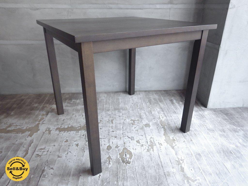 無印良品 MUJI タモ無垢材 ブラウン ダイニングテーブル 幅90cm ♪