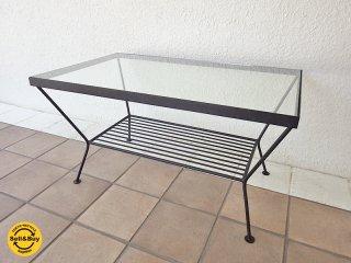 ウニコ unico エディ EDDY ローテーブル・S W750 ガラストップ×アイアンフレーム コーヒーテーブル インダストリアル ◇