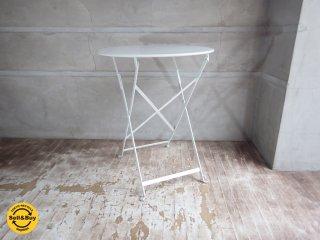 フェルモブ Fermob ビストロ フォールディング テーブル ホワイト Φ60cm 折畳テーブル A ♪
