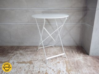 フェルモブ Fermob ビストロ フォールディング テーブル ホワイト Φ60cm 折畳テーブル B ♪