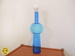 ヴェール VERT ブルーグラスジャグ Blue glass jag 水差し フラワーベース イタリア ヤマギワ 希少 ★