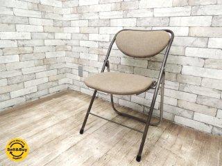 リメイク ヴィンテージ フォールディングチェア パイプ椅子 B ◎