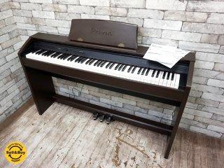 カシオ CASIO 電子ピアノ プリヴィア スタンド一体型モデル ブラウン PX-750BN 2013年製 ●
