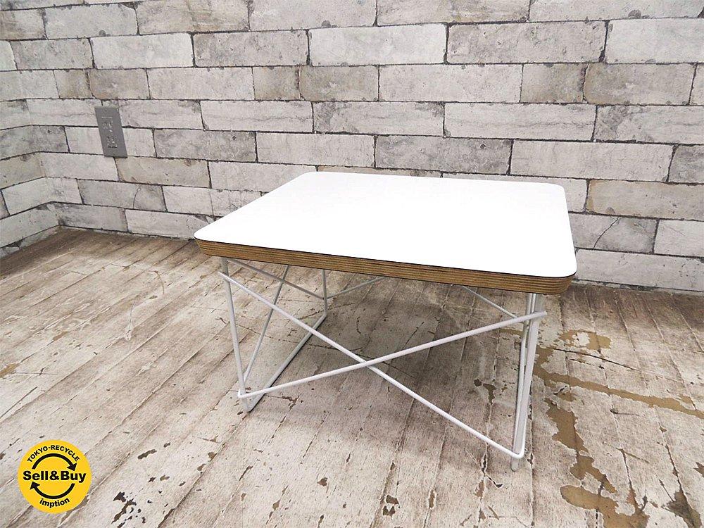 ハーマンミラー herman miller LTRT ワイヤーベーステーブル イームズ ミッドセンチュリー デザイン 正規品 ●