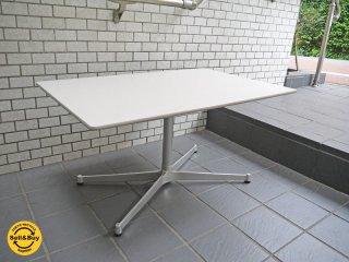 メラミン天板 アルミダイキャストXレッグ スクエア カフェテーブル センターテーブル ■