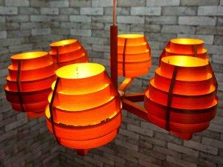 ヤマギワ yamagiwa ヤコブソンランプ JAKOBSSON LAMP C2086 ペンダントライト 6灯 ●