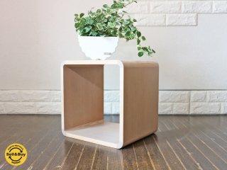センプレ SEMPRE 取扱 日進木工 ブリックブロック BRICKBLOCK 収納ボックス W350 オーク材 ホワイトナチュラル 定価\20,520B◎