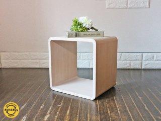 センプレ SEMPRE 取扱 日進木工 ブリックブロック BRICKBLOCK 収納ボックス W350 オーク材 ホワイトナチュラル 定価\20,520 C ◎