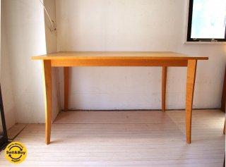 トラックファニチャー TRUCK Furniture メープル無垢材 Maple wood 廃盤 ダイニングテーブル 定価12万 ★