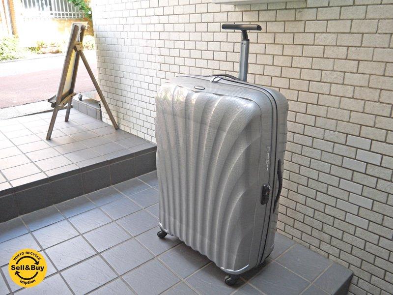 サムソナイト samsonite コスモライト Cosmolite スピナー85/32 Spinner 85/32 軽量スーツケース キャリーバッグ 132リットル シルバー ■
