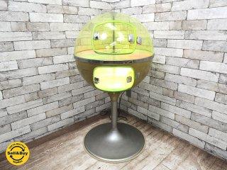 スペースエイジデザイン 60's-70'sビンテージ 球体型 ディスプレイケース ショーケース 照明付き ●
