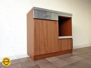 ウニコ unico ストラーダ STRADA キッチンカウンター W900 オープンタイプ ( キッチンボード 作業台 レンジボード ) 取説付き 定価:¥86,184- 収納家具 ◇