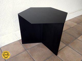 ヘイ HAY スリットテーブル ヘキサゴン SLIT TABLE HEXAGON ブラック 定価:¥73,000- コンディション良好 シボネ取扱い 北欧モダン ◇