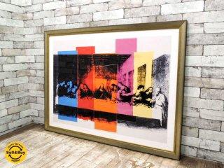 アンディ・ウォーホル Andy Warhol 最後の晩餐 カモフラージュ Detail of the Last Supper アートポスター 額装 AllPosters ●