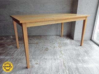 無印良品 MUJI タモ材 ダイニングテーブル 幅140cm♪