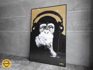 スティーズ STEEZ ポスター 『 Headphone Chimp 』 額装品 ♪