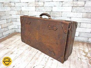 ビンテージ Vintage トランク レザー 革 ボックス ●