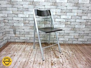 アエラデリック AREA declic ポケットウッドチェア pocket wood chair 折たたみチェア ダークブラウン B ●