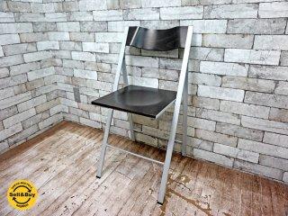 アエラデリック AREA declic ポケットウッドチェア pocket wood chair 折たたみチェア ダークブラウン C ●