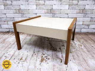 ビンテージ vintage コーヒーテーブル  サイドテーブル メラミン天板 ●