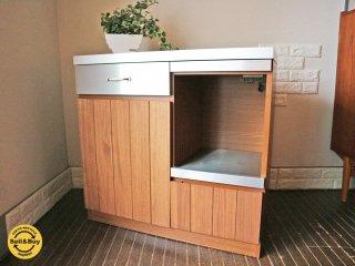 ウニコ unico ストラーダ STRADA キッチンカウンター オープン W90 ステンレス×アッシュウッド ダークブラウン 食器収納 ◎