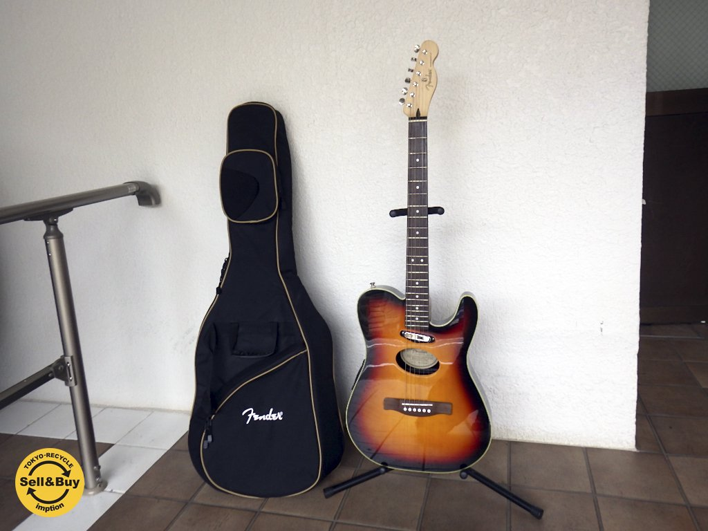 フェンダー Fender エレクトリックアコースティックギター Telecoustic Guitar デラックス サンバースト DLX SB ソフトケース・各アクセサリー付き エレアコ アコギ ◇