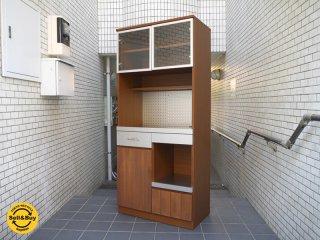 ウニコ unico ストラーダ STRADA キッチンボード 食器棚 オープンタイプ アッシュ材×ステンレス ■
