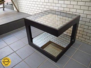 モーダエンカーサ moda en casa ダイス50 daice50 コーヒーテーブル オーク材 ミラーガラス ■